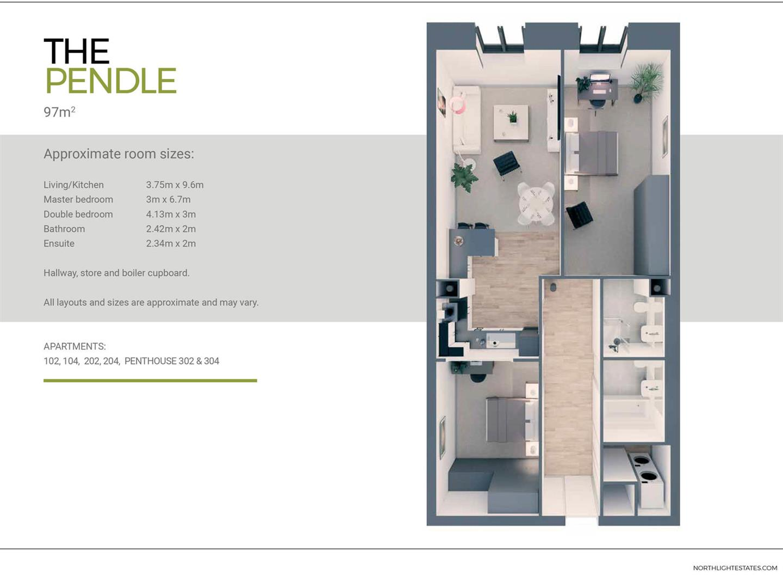 2 Bedroom Apartment For Sale - pendle floorplan.jpg